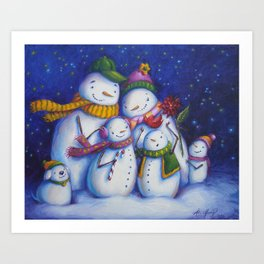 Snow Family Portrait Art Print