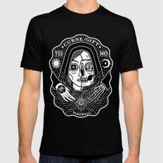 Contacting Death LARGE Mens Fitted Tee Black