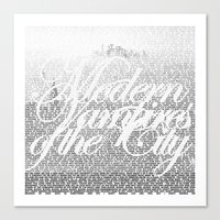 modern vampires of art history Canvas Prints featuring Modern Vampires of the City by Tony Truong