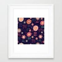 flora Framed Art Prints featuring Flora by Valendji