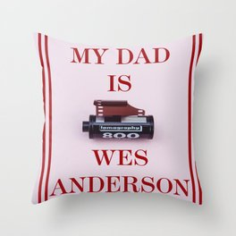 Wes Anderson Throw Pillow