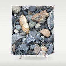 Rocks Pebbles Stones :: Alaskan Sand Shower Curtain
