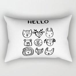 Say Hello Rectangular Pillow