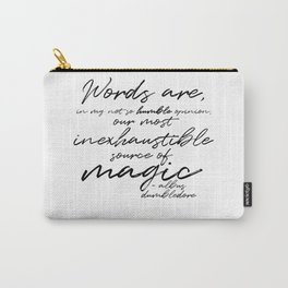 Words Are Magic (Light) Carry-All Pouch