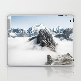 Mountain Tops Above Clouds And Snow Laptop & iPad Skin