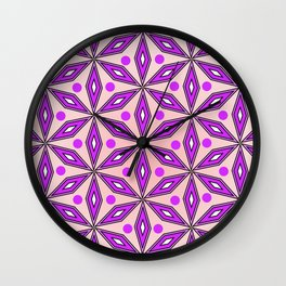 Floral geometric pattern Wall Clock