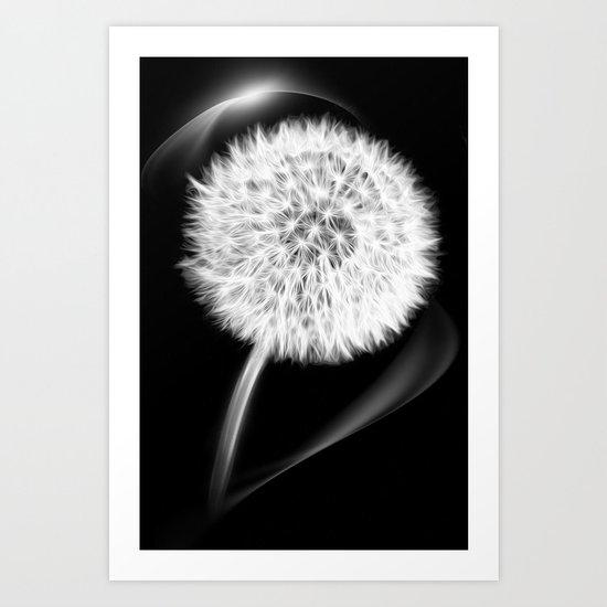 LIFE IN MONO - Dandelion Art Print