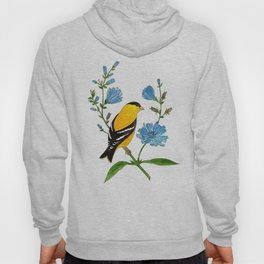 Goldfinch and Chicory Hoody