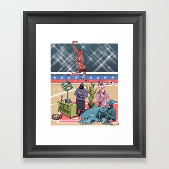 The Dunk Contest Framed Art Print