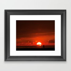 Walking at Sunset Framed Art Print