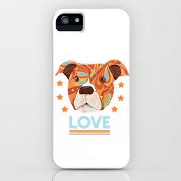 Pit bull love iPhone Case