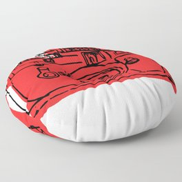 Click Click Red Floor Pillow