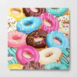 Donuts with Sprinkles Metal Print