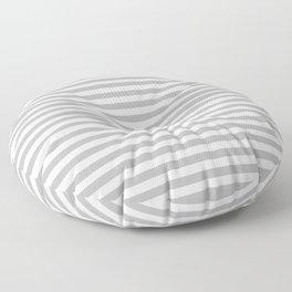 Gray Stripes Floor Pillow
