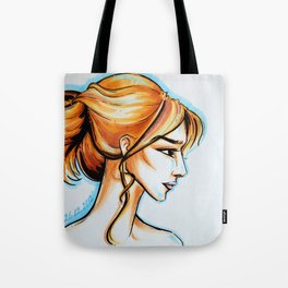 blonde girl Tote Bag