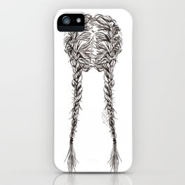 Parted French Braids iPhone Case