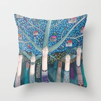 central park Throw Pillows featuring Central Park by kürtiandi