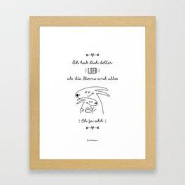 Ich hab Dich doller lieb.... Framed Art Print