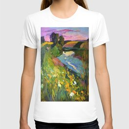 Evening on the river T-shirt