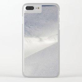 Deep snow Clear iPhone Case
