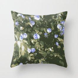Blue Florals Throw Pillow
