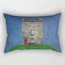 House on a hill Rectangular Pillow
