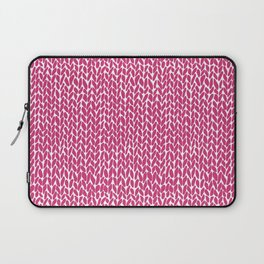 Hand Knit Hot Pink Laptop Sleeve