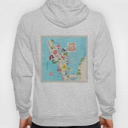 Anna Maria Island Map Hoody