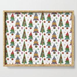 Beautiful Christmas Pattern Design Serving Tray