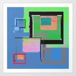 Superfly Muse No 2. Contemporary Mixed Media Abstraction Art Print