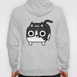 Cat Loaf - Tuxedo Kitty - Black and White Hoody