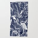 Indigo Navy Blue Floral by beautifulhomes
