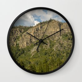 Rocks and Shrubs Wall Clock