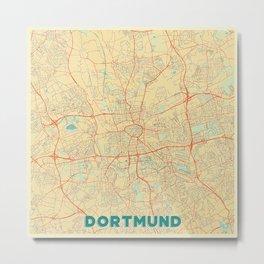 Dortmund Map Retro Metal Print
