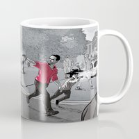 the walking dead Mugs featuring The Walking Dead by Steven P Hughes