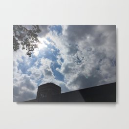 cloudy campus afternoon Metal Print