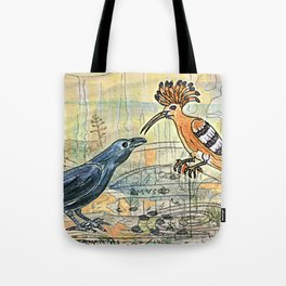 The Crow and the Hoopoe Tote Bag