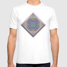 Sunny Flowers SMALL White Mens Fitted Tee