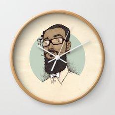Portrait of Abraham Wall Clock