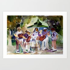 Summer Time Rock and Roll Art Print