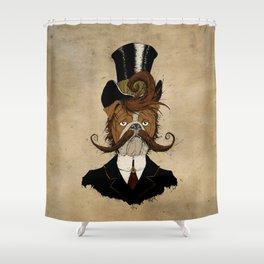 Fine Victorian Bulldog Shower Curtain