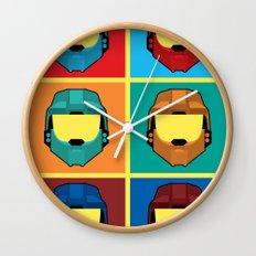 Warhol's Red vs Blue Wall Clock