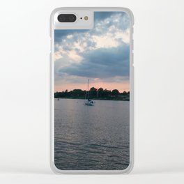 Sailing on the Navesink Clear iPhone Case