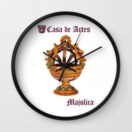 Majolica Incense Burner - Casa de Artes Wall Clock