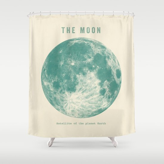 Satellite of the planet Earth  Shower Curtain