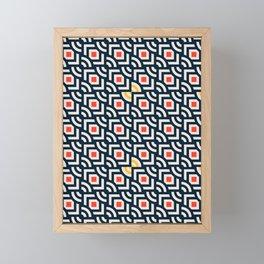 Round Pegs Square Pegs Navy Blue Framed Mini Art Print