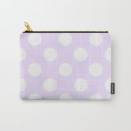 Geometric Orbital Circles In Pale Delicate Summer Fresh Lilac with White Dots Carry-All Pouch