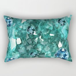 AQUA GEMS & CRYSTALS  SEPTEMBER BIRTHSTONE Rectangular Pillow