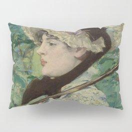 Édouard Manet - Le Printemps (Jeanne Demarsy) Pillow Sham