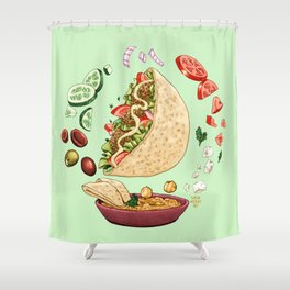 Falafel Mandala Shower Curtain